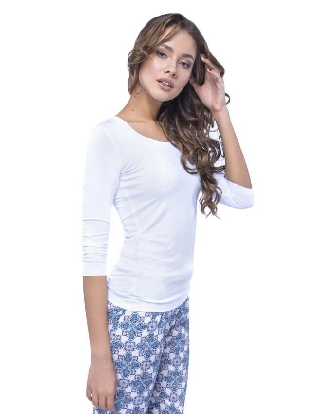 Women's polo neck shirt CONTE ELEGANT LD 478, s.158,164-100, white - 2