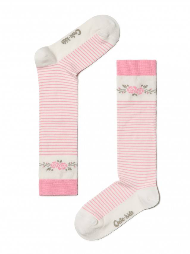 Children's knee high socks CONTE-KIDS TIP-TOP, s.18, 038 milky-pink - 1
