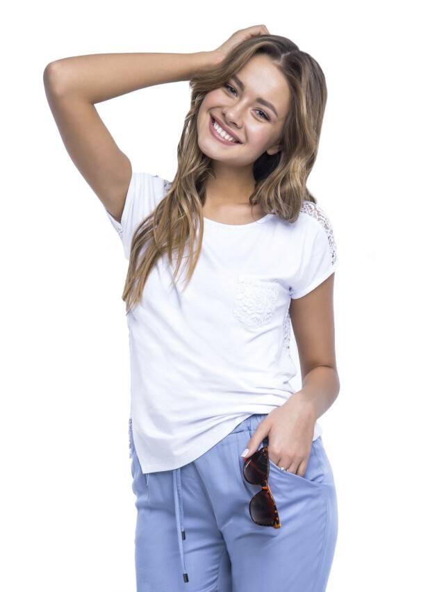 Women's polo neck shirt CONTE ELEGANT LD 527, s.158,164-100, white - 1