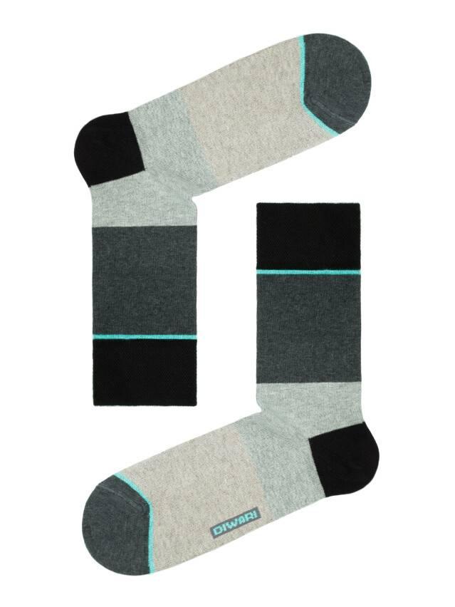 Men's socks DiWaRi HAPPY, s. 40-41, 033 dark grey-lettuce green - 1