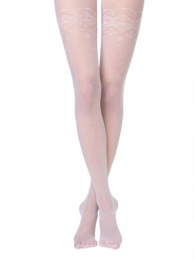 Women's tights CONTE ELEGANT AMATO, s.2, bianco - 1