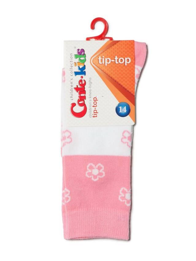 Children's knee high socks CONTE-KIDS TIP-TOP, s.14, 041 white-light pink - 2