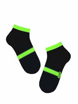 men's socks ACTIVE (anklets) 7С-37СП, размер 27, цвет white-lettuce green