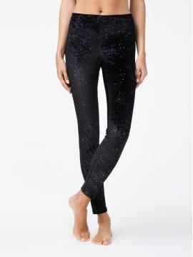 women's leggings CONTE ELEGANT STAR 18С-562ТСП, размер 164-94, цвет nero
