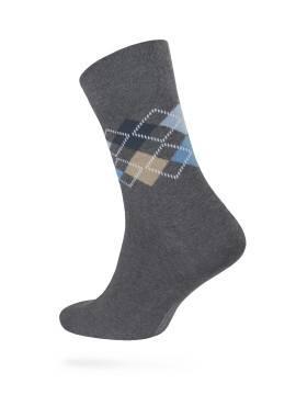 Men's socks COMFORT (melange) 7С-26СП, размер 25, цвет dark grey