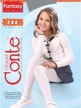Children's polyamide tights EVA 14С-9СП, размер 104-110, цвет bianco