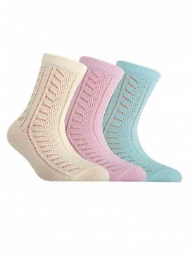 Children's cotton socks MISS (openwork) 7С-76СП, размер 20, цвет cream