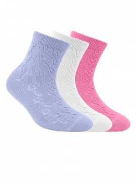 Children's cotton socks MISS (openwork) 7С-76СП, размер 16, цвет pale violet
