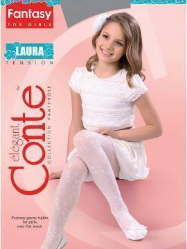 Children's polyamide tights LAURA 14С-5СП, размер 104-110, цвет panna