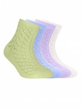 Children's cotton socks MISS (openwork) 7С-76СП, размер 22, цвет lettuce green
