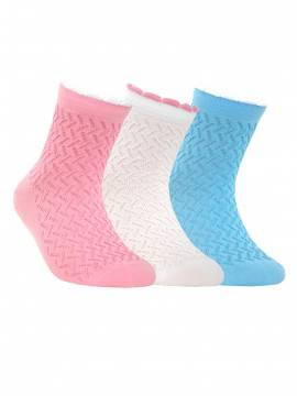 Children's cotton socks TIP-TOP (picot) 7С-28СП, размер 20, цвет blue