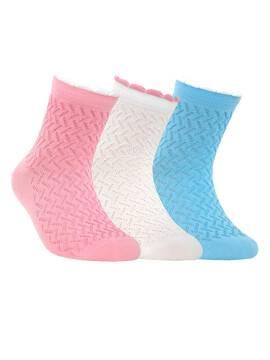 children's cotton socks TIP-TOP (picot) 7С-28СП, размер 20, цвет light pink