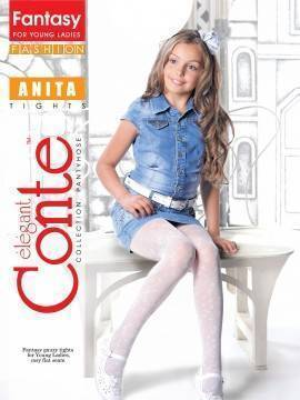 Children's polyamide tights ANITA 13С-40СП, размер 146-152, цвет grafit
