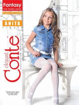 Children's polyamide tights ANITA 13С-40СП, размер 146-152, цвет grafit