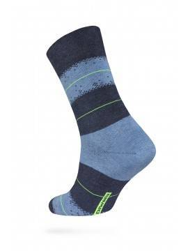 Men's socks HAPPY (with pattern) 15С-23СП, размер 25, цвет black-grey