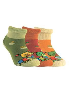 children's cotton socks SOF-TIKI (terry, with lapel) 6С-19СП, размер 12, цвет yellow