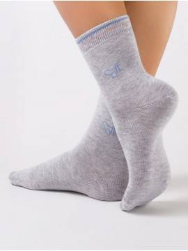Women's cotton socks COMFORT (melange) 7С-52СП, размер 23, цвет grey