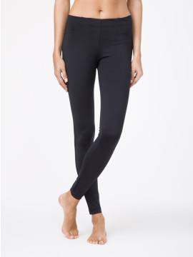Women's leggings GOLDY LINE 15С-004ТСП, размер 164-102, цвет black