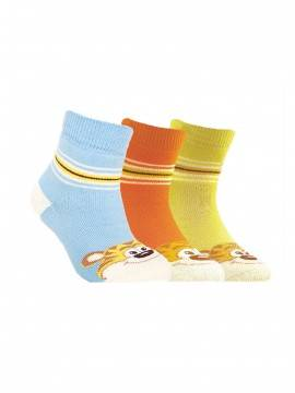 Children's cotton socks SOF-TIKI (terry) 7С-46СП, размер 12, цвет lemon