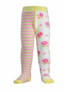 Children's cotton tights TIP-TOP (cheerful legs) 14С-79СП, размер 62-74 (12), цвет lettuce green