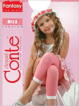 Leggings for girls MILA 8С-110СП, размер 116-122, цвет nero