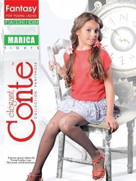 Children's polyamide tights MARICA 13С-38СП, размер 146-152, цвет natural