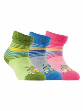 Children's cotton socks SOF-TIKI (terry, with lapel) 6С-19СП, размер 14, цвет light green