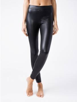 women's leggings CONTE ELEGANT ELITE 18С-553ТСП, размер 164-102, цвет nero