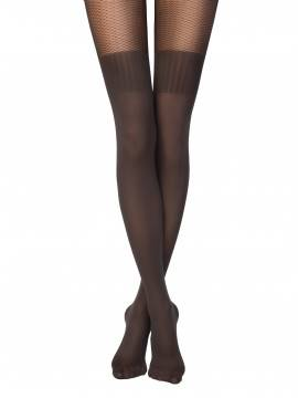 Women's polyamide tights JACLIN 14С-98СП, размер 2, цвет grafit