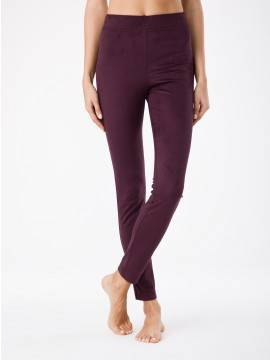 women's leggings CONTE ELEGANT VELVET 18С-563ТСП, размер 164-102, цвет bordo