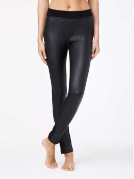 Women's leggings MYSTERY 16С-170ТСП, размер 164-102, цвет nero