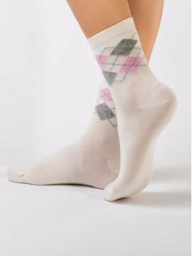 women's cotton socks CLASSIC 7С-22СП, размер 23, цвет milky