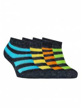 Children's cotton socks SOF-TIKI (terry) 7С-46СП, размер 10, цвет dark grey-orange