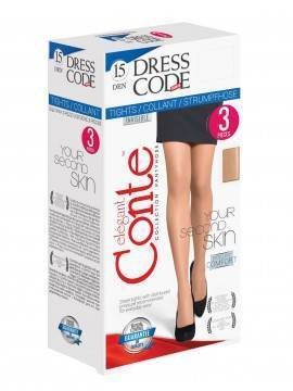 Women's polyamide tights DRESS CODE 15 (3 pieces) 8С-59СПD, размер 2, цвет bronz