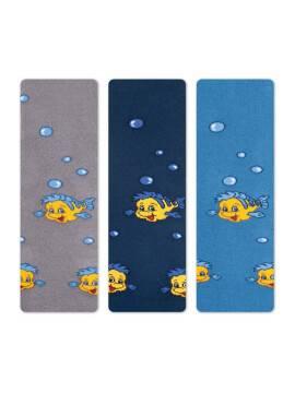 Children's cotton tights SOF-TIKI (terry inside) 7С-38СП, размер 80-86 (14), цвет blue