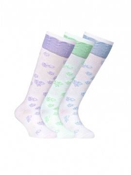 Children's cotton knee-highs TIP-TOP (lurex) 7С-71СП, размер 20, цвет light blue
