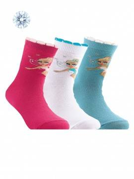 Children's cotton socks TIP-TOP (strasses, lurex) 7С-45СП, размер 16, цвет pink